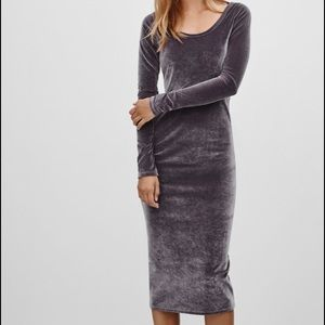 Wilfred free velvet anouck dress sz xs in grey